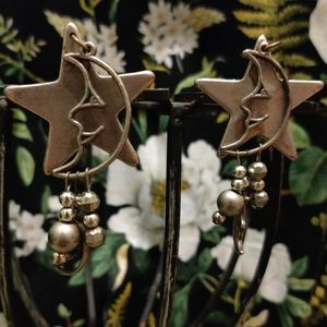 💚 Vintage abstract dangling celestial earrings